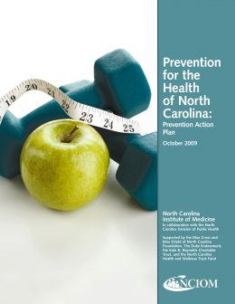 Report cover: Prevention for the Health of NC