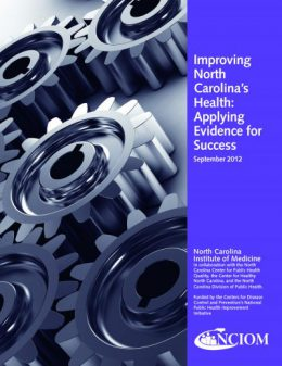 Report cover: Improving North Carolina's Health, Applying Evidence for Success