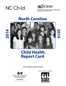 Cover image: NC Child Health Report Card 2014