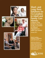 Report cover: Short- and Long-Term Solutions for Co-Location in Adult and Family Care Homes