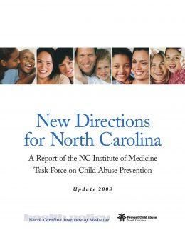 Report Cover: New Directions for NC - NCIOM task force on child abuse prevention