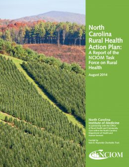 Report cover: NC Rural Health Action Plan