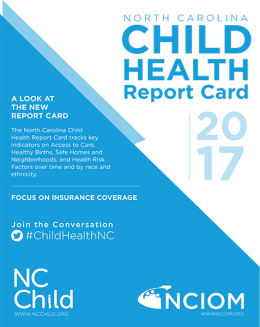 Cover of NC Child Health Report Card 2017