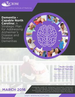 Report cover: Dementia-capable North Carolina