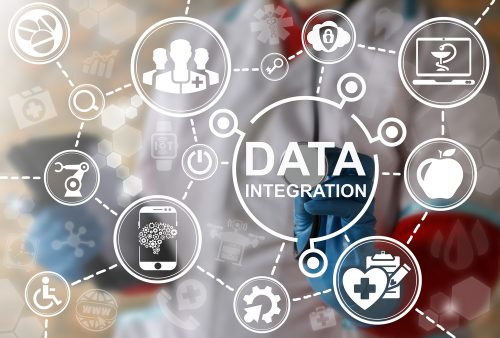 Data integration stock photo