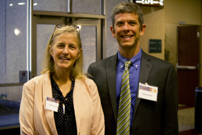 Senior PharmAssist Founder and Executive Director Gina Upchurch (left) and Dr. Adam Zolotor, NCIOM President and CEO