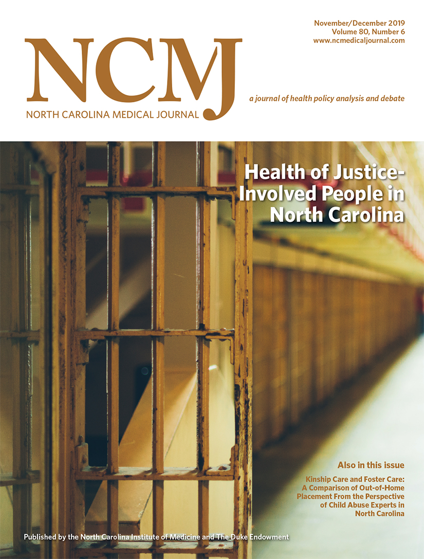 Health of Justice-Involved People in North Carolina